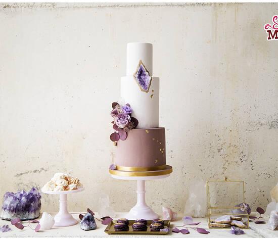 Mesa dulce amatistas. Foto: Núria Cienfuegos. Wedding planner: The Experialist.