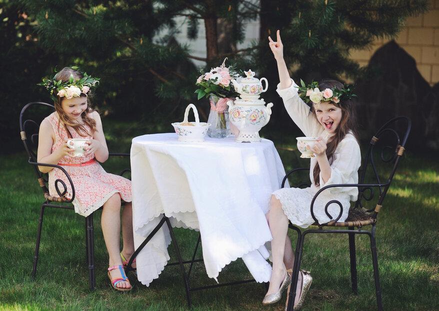 Cómo decorar la mesa de los niños en la boda en 5 pasos