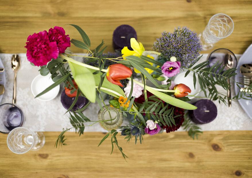Cómo elegir los colores para decorar mi boda en 5 pasos