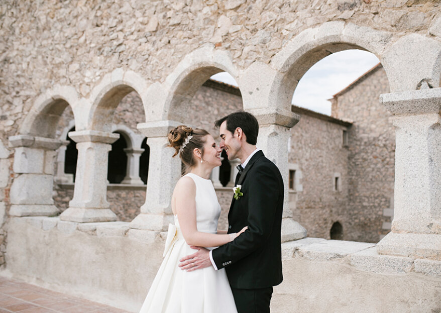 Un jardín romántico y salvaje: la boda de Lidia y Lluís