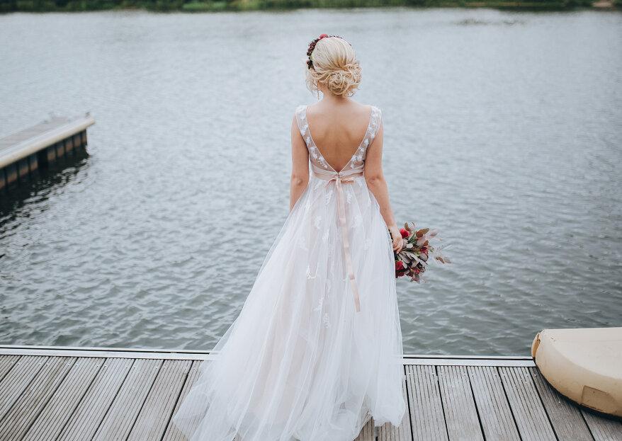 Cómo elegir vestido de novia para una boda en la playa en 5 pasos