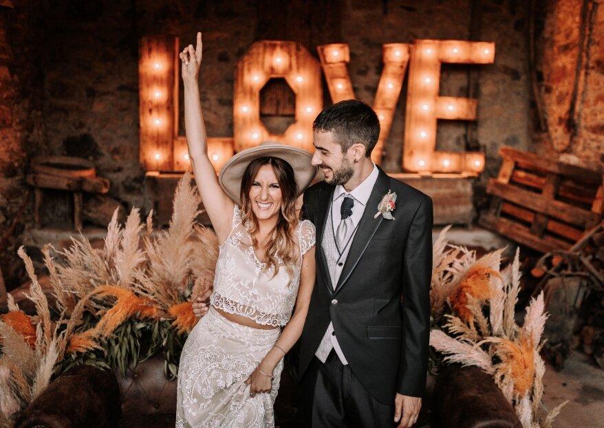 Un cóctel de emociones: la boda de Mireia y Xavi