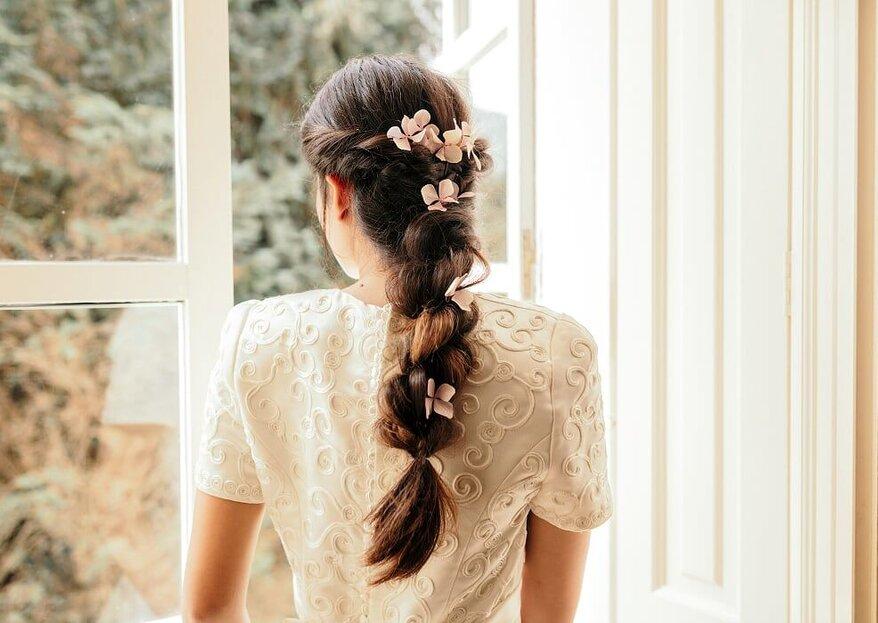 Estos son los 5 estilos de peinados que más triunfan entre las novias